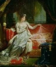 Joseph Franque: Marie Louise von Österreich mit ihrem Sohn
