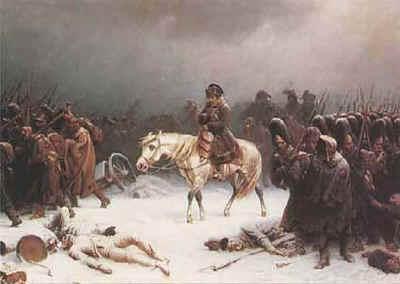 Napoleon auf dem Rückzug