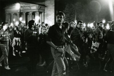 07.10.1989: Zahlreiche Proteste am Rande der Feierlichkeiten zum 40. Jahrestag der DDR