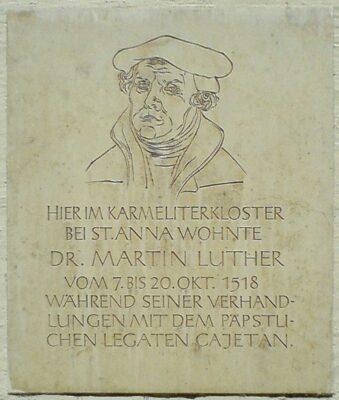 12.10.1518: Luther beim Verhör in Augsburg