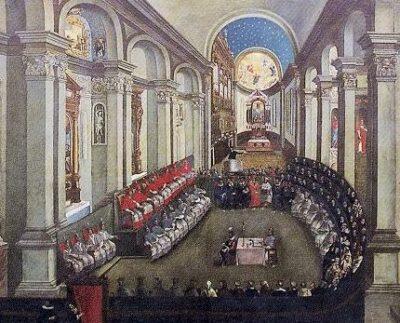 13.12.1545: Konzil von Trient beginnt.