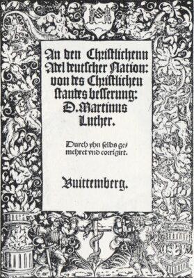 1520: 3 Schriften Martin Luthers erscheinen.