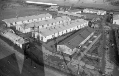 Lager Friedland Ankunft der Wissenschaftler aus Suchomi (Lageraufnahmen und Ankunft von Aussiedlern aus Polen), 12. Februar - 16. Februar 1958